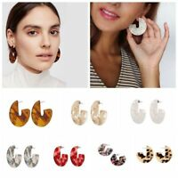Women Fashion Geometric Circle Drop Dangle Earrings Women Statement Jewelry Gift