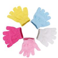 Wash Gloves Body Scrub Bath Shower Back Scrubber Mitt Foot Exfoliate Skin DP