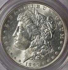 1897-O $1 AU58 PCGS- MORGAN DOLLAR.