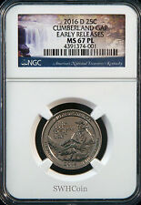 2016-D 25C Cumberland Gap - NGC MS67 PL (Proof-Like) ATB Quarter - Early Release