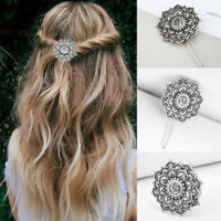 Women Creative Vintage Viking Jewelry Flowers Hairpin Stick Hair Clip Access
