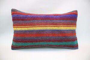 Kilim Pillow, 12x20 in, Decorative Ethnic Pillow, Turkish Pillow, Accent Pillow