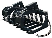 "NEW 72"" ROOT GRAPPLE ATTACHMENT Skid Steer Loader Rake Bucket Brush Holland Case"