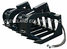 "NEW 60"" ROOT GRAPPLE ATTACHMENT Skid Steer Loader Rake Bucket Brush Caterpillar"