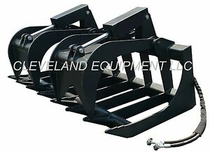 "84"" ROOT GRAPPLE ATTACHMENT Skid Steer Loader Rake Bucket Brush New Holland Case"