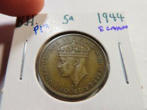 P13 British Honduras 1944 5 Cents SCARCE
