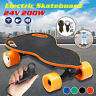 Electric Skateboard 24V 200W Four-wheeled Longboard Motor Remote Control Charger
