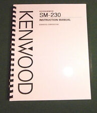 Kenwood SM-230 Instruction Manual - Card Stock Covers & 32 lb Paper