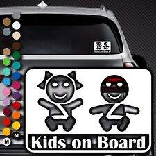 A85# Aufkleber Baby on Board Kind an Bord Tour Kinder Kids in Auto Buggy Sticker
