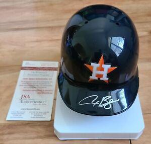 Alex Bregman Signed Auto Houston Astros Mini Baseball Helmet Autographed JSA COA