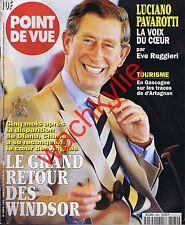 Point de vue n°2582 du 14/01/1998 Windsor Luciano Pavaroti Bernard Buffet