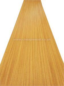 """African Teak Veneer  2800mm x 310mm / 110,2"""" x 12,2""""  Wood Veneer Sheet"""