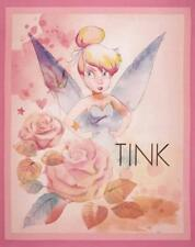 Patchwork Quilting Sewing Fabric TINKERBELL Panel 90x55cm New Cotton Quilt DI...