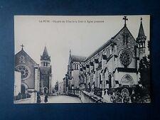 M127. Cpa. 86. La Puye. Chapelle des Filles de la Croix et Église Paroissiale