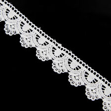 3 Yards Embroidered Lace Edge Trim Ribbon Wedding Applique DIY Sewing Craft