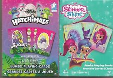 HATCHIMMALS & SHIMMER AND SHINE JUMBO PLAYING CARDS