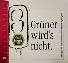 Aufkleber/Sticker: Diebels Alt - Grüner Wird's Nicht (040316138)