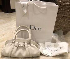 Christian Dior Leather Handbag White Elegant Special 100% Genuine BARGAIN!