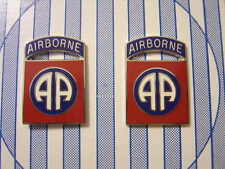 82nd AIRBORNE DIVISION DI DUI UNIT CREST INSIGNIA PAIR NIP (OBSOLETE ISSUE):K7
