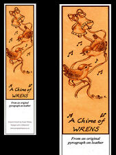 """A Chime of Wrens"" Birds Laminated Bookmark - Print from Original Animal Art"