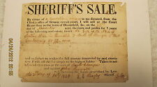 1849 Sheriff's Sale Bloomfield IN Greene County E. Beazley John Bennett Chausser