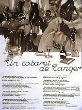 Penagos Nuevo Mundo CABARET de TANGER Wine 1927 Emilo Carrere Art Deco Ad Matted