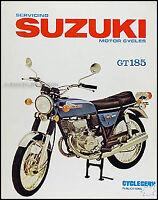 Suzuki GT185 Adventurer Shop Manual GT 185 1973 1974 1975 1976 1977