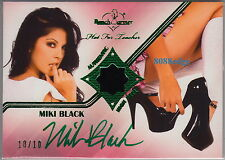 2012 BENCHWARMER HIGH HEEL AUTO: MIKI BLACK #10/10 AUTOGRAPH WORN SHOE SWATCH