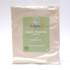 Argile Blanche en poudre Bio 100g, Pure et Naturelle, Peaux Sensibles