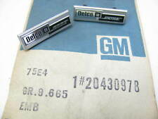 (2) Nos Delco Bose Emblems 1984-1985 Riviera, Eldorado, Seville, Toronado