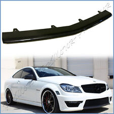 Fit W204 C204 BENZ 2012-14 C63AMG Bumper Carbon Fiber Front Center Cover Add Lip