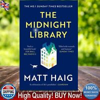 The Midnight Library By Matt Haig Paperback NEW Book 2021 Sunday Time Bestseller
