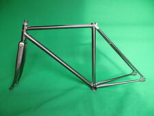 Stratos Mach Silver NJS Keirin Frame Track Bike Fixed Gear Columbus Max Fork.