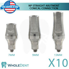 10x NP Conical Connection Straight Abutment Titanium Dental Implant Ø3.5mm