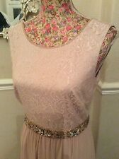 "Monsoon Limited Maeve Pink Length 59""dress Size 10 Posting Daily Hols"