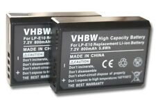 2x Batterie pour Canon EOS 1100 / 1200D LP-E10 LPE10 LP-E 10 ACCU