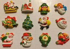 12 PIECES CHRISTMAS LOT MAGNET FOR YOUR FRIDGE // CHRISTMAS REFRIGERATOR MAGNETS