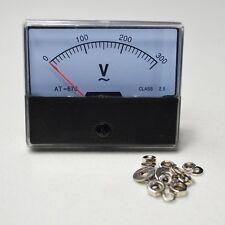NEW AC 0-300V Analog Volt Voltage Panel Meter Voltmeter Gauge