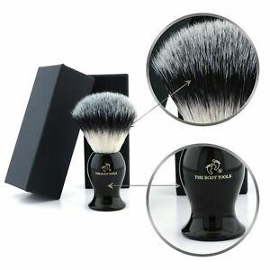 Soft Bristles Shaving Synthetic Hair Brush with Black Handle for Men Wet Shaving