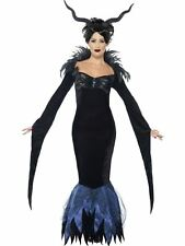 Lady Raven Costume, UK 12-14, Halloween Adult Fancy Dress #AU