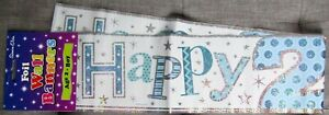 Holographic Foil Party Banner  - Happy 2nd Birthday