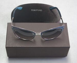 Tom Ford Authentic Sunglasses Nina TF373 TF 373 86Z Purple Multi Grey NEW! 32706