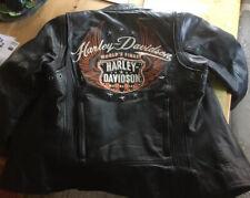 Coole Harley Davidson Lederjacke H.D. Leather Jacket Riding Gear Jacke -S 36/38