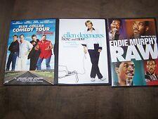 Eddie Murphy-Raw, Ellen Degeneres, Blue Collar ComedyTour 3 DVDS in Excellent Co