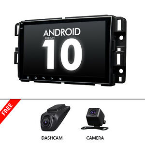 """CAM+DVR+2DIN Android 10 8"""" Car Stereo Radio GPS System For Chevrolet Chevy Buick"""