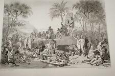 EGYPTE NAPOLEON HALTE A SIENNE ARMEE GRAVURE 1838 VERSAILLES R1016 IN FOLIO