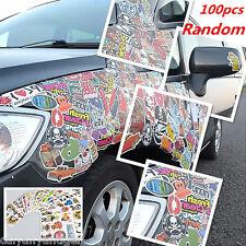100pcs Decals/Emblems/Stickers Vinyl Skate Skateboard Laptop Luggage Universal