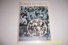 1969 BALTIMORE COLTS Yearbook MEDIA GUIDE 104 Pages JOHNNY UNITAS Super Bowl III