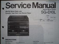 PANASONIC SG-D10L Stereo Music Centre unit Service manual wiring parts diagram