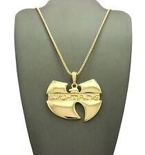 """NEW WU TANG PENDANT & 24"""" BOX/CUBAN/ROPE CHAIN HIP HOP NECKLACE - XSP335G"""